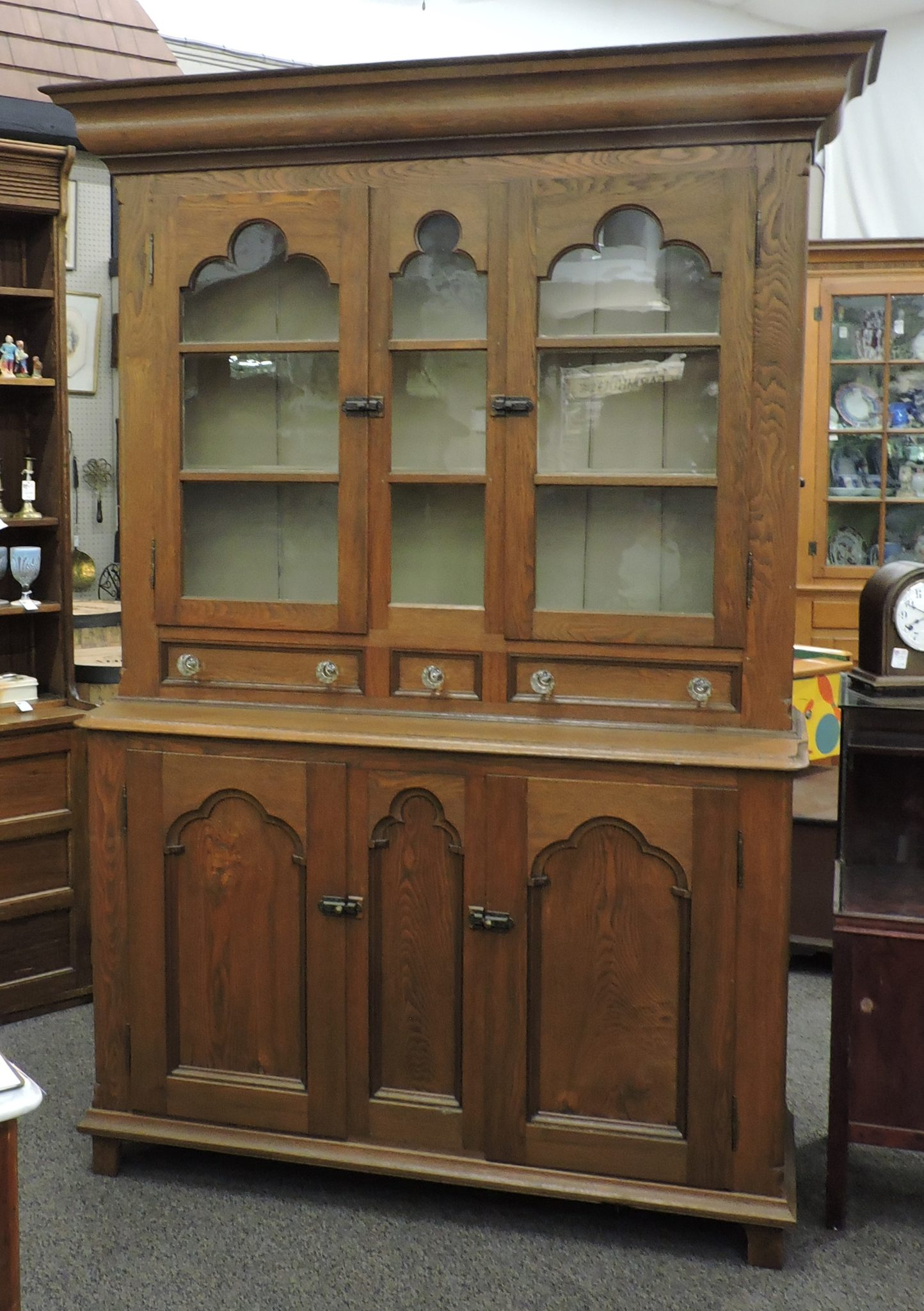 - Antique Walnut And Ash Stepback Cupboard Heart Of Ohio Antique Center